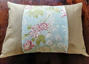 Cotton Cushion With Floral Inset Design