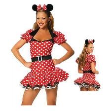Womens Minnie Mouse Halloween Costumes Fancy Dress Headband Outfit Adult Cosplay