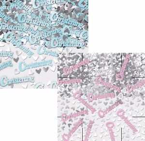 Blue Boys / Pink Girls Christening Table Confetti Sprinkles Party Decorations  A