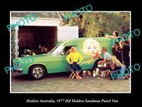 POSTCARD SIZE PHOTO OF GM HOLDEN THE 1977 HZ HOLDEN SANDMAN PRESS PHOTO 2