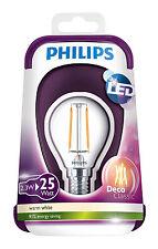 Philips LED Deco Classic 2.5W (25W) E14 Vintage Luster Bulb Warm White P45