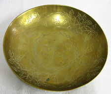 Collectible Brass Dish / Bowl - 10-7/8 inches