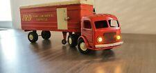J.R.D Camion tôle Simca Cargo 405 Transcontinental Express Rouge 50 cm