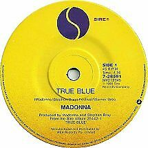"Madonna ""True Blue"" 1986 SIRE Oz or NZ 7"" 45RPM"