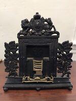 "Antique Original Cast Iron Fireplace Salesman's Sample Or Doorstop 13"" Rare!"