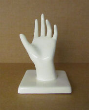 Ceramic Left Hand for Jewelry display or wall hanging for scarf display.