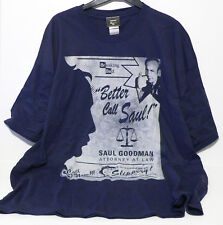 """OFFICIAL BREAKING BAD """"BETTER CALL SAUL"""" T-SHIRT - BLUE WITH LOGO -  2XL - XXL"""