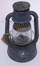 Vintage Dietz Little Wizard Blue Lantern With Clear Glass Globe