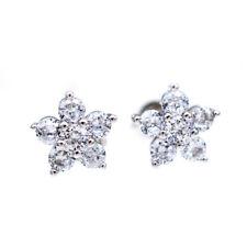 925 Sterling Silver CZ Flower Stud Butterfly Simple Earrings Women Jewelry Gifts