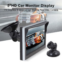 "Car Monitor 5"" Display Rear View Color TFT LCD Screen Reversing Backup Camera"