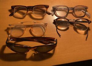Vtg 6 LOT AO American Optical welsh Bausch & Lomb sunglasses  EYEGLASSes US
