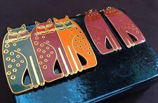 Siamese Cats 22KT GP Earrings! Brooch / Pin Set 1990s