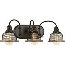 Progress Lighting Tilley Collection 3-Light Antique Bronze Bathroom Vanity Light
