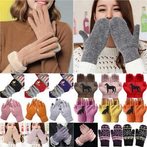 Winter Women Thermal Thicken Wooly Gloves Hand Arm Warmer Ladies Waist Mittens