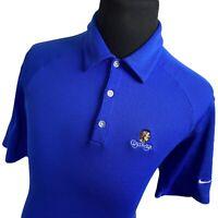 Nike Blue Cuscowilla GA Short Sleeve Performance Dri Fit Golf Polo Shirt Mens XL