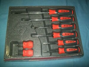 NEW Snap-on™ Instinct Orange Hard Handled 8piece Screwdriver SET SHDX80O Sealed