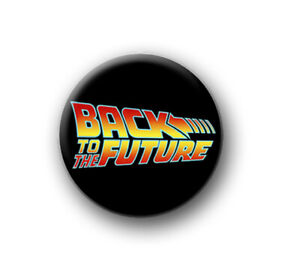 """BACK TO THE FUTURE / 1"""" / 25mm pin button / badge / Marty / Doc / McFly / flux"""