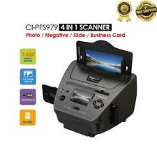 Digital PHOTO Film Slide Business Card SCANNER 4-IN-1 Combo 14MP LCD Display