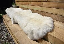 Natural Sheepskin Rug Double XL Large 2 Skin British Sheepskin Rug