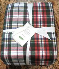 POTTERY BARN ~  DENVER PLAID FLANNEL FULL SHEET SET ~ RED / GREEN / GRAY