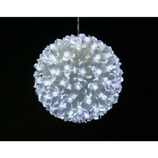 DECORATION DE NOEL BOULE 100 LEDS BLANCHES 15 CM EXTERIEUR INTERIEUR