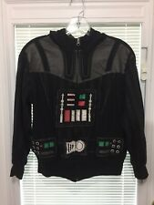 Youth Star Wars Darth Vader Costume Zip Up Jacket Sz L 10-12
