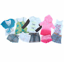 Girls Justice Lot 10 Piece Shorts Denim Skirt Tops 12 Back To School BTS
