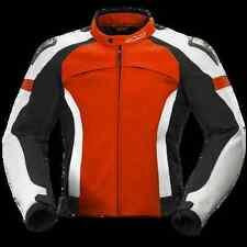 BÜSE Vermont Lederjacke Rot/Weiß/Schwarz Größe: 52