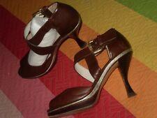 Zapatos botines Farrutx con Tacon torcido raro Sandalias plataforma y hebilla