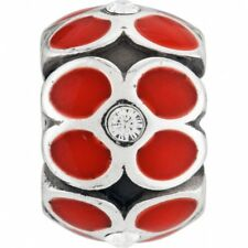 NEW Brighton RING OF FLOWERS Red Enamel Crystals Bead Charm RETIRED!!!! RARE !!!