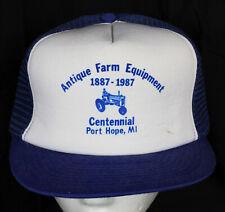 Vtg Snapback Mesh Hat Trucker Antique Farm Eqt Centennial Port Hope Mi Thumb 87