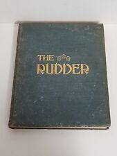 Antique Bound The Rudder Magazine Boat Yacht Sailing XXII July - Dec 1909
