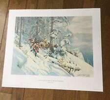 """John Clymer """"Life in the Bitterroots"""" 1967 Limited Edition Lithograph Print"""