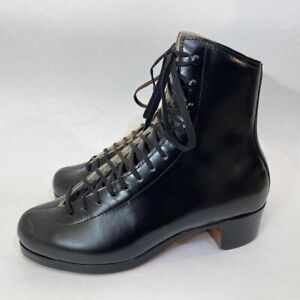 Riedell Model 375 Black Skating Shoes Boots Only Youth Size 4-1/2 4.5 Brand New