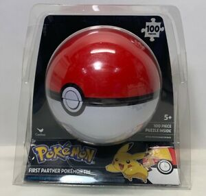 Pokémon 100-Piece Puzzle🧩 in a Poké Ball Packaged Together🧩