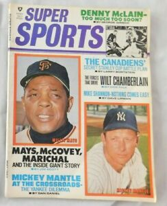 Mickey Mantle Yankees & Willie Mays Giants - May 1969 Super Sports Magazine