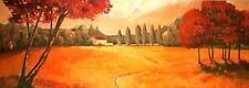 Claudia Ancilotti: Indian Summer Fertig-Bild 35x100 Wandbild Toskana Landschaft