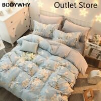 Fresh Simple Bedding Set Flannel Coral Fleece Cotton Bed Linen Duvet Cover Set