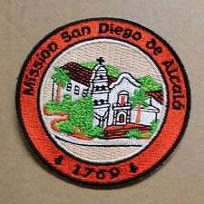 SAN DIEGO de ALCALA Mission EMBROIDERED PATCH