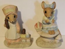 Sunday No Box 1982 Country Calico Mice Figurine Days Of The Week