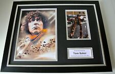 More details for tom baker signed framed photo autograph 16x12 display doctor dr who tv & coa
