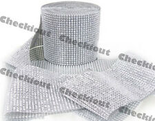 "4.5"" x 30ft Wedding Decoration Supplies Rhinestone Diamond Wraps Ribbon Mesh"