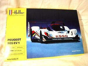 1/24 Heller Peugeot 905 EV 1 Racer World Sports Car Championships '91 # 80718