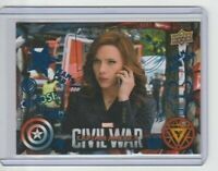Captain America Civil War Trading Card Black Widow/Scarlett Johansson Blue #42