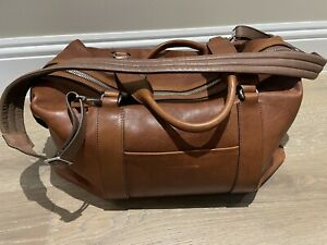 Brunello Cucinelli Mens Leather Duffel Bag Made In Italy - New With Tags