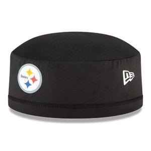 Pittsburgh Steelers New Era NFL Training Skull Cap On Field Skully Stretch Hat