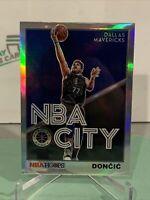 2019-20 Hoops Premium Stock LUKA DONCIC Silver NBA CITY SP - Dallas Mavericks