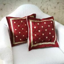 1/12 Scale Red Pillow Cushion For Doll House Sofa Couch Bedroom Furniture 4x4cm