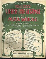 """"""" Gonedoliera """" Lied von Max Wiese Op. 11,1 ~ übergroße, alte Noten"""
