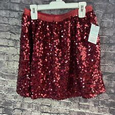 Cat & Jack Large 10-12 Red Sequin Tutu Skirt